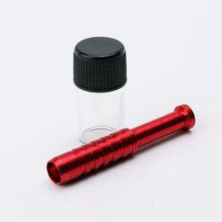 Aluminum Straw + Glass Jar Red