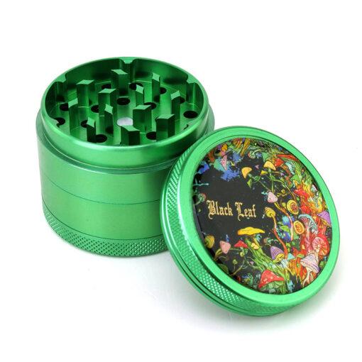 Black Leaf Colorful Motive Mixer Green