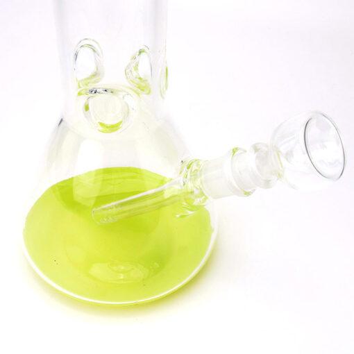 Black Leaf Flask Glass Souvenir Base