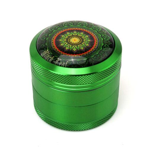 "Black Leaf ""Mandala"" Mixer Green"