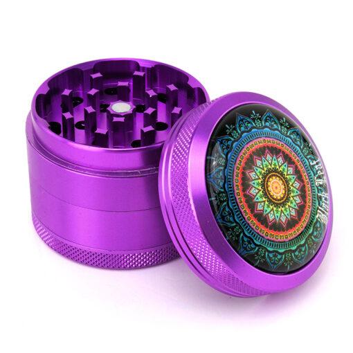 "Black Leaf ""Mandala"" Mixer Purple Open"
