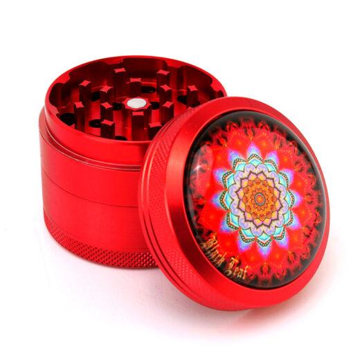 "Black Leaf ""Mandala"" Mixer Red Open"