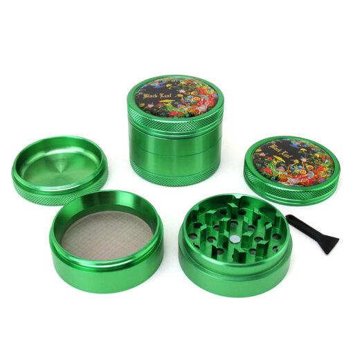 Black Leaf Rainbow Forest Green Mixer Setup