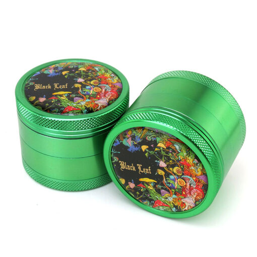 Black Leaf Rainbow Forest Green Mixer Two