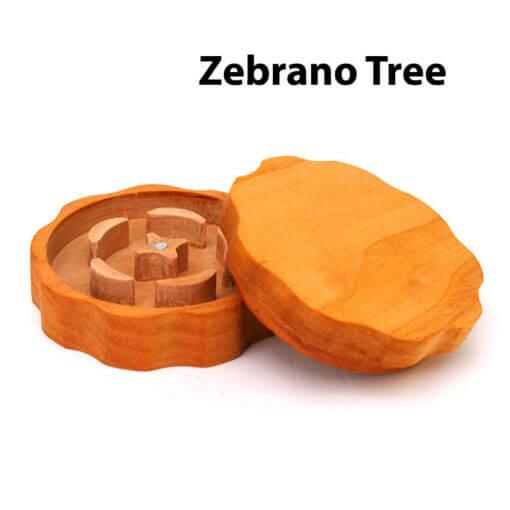 Eco-Friendly Wooden Mixer Zebrano Tree Open