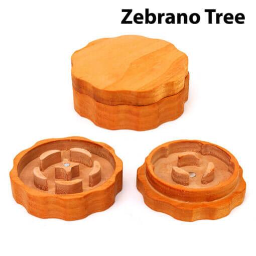 Eco-Friendly Wooden Mixer Zebrano Tree Setup