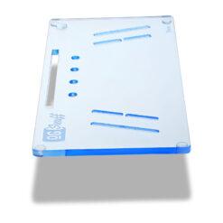 The OGS Fusion V2 Board Neon UV Blue Side