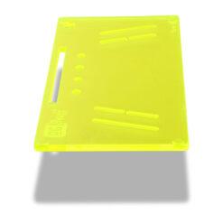 The OGS Fusion V2 Board Neon UV Green Side