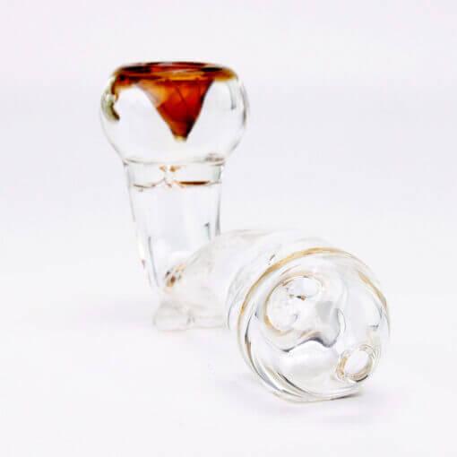 Glass Hand Accessory Amber Mouthpiece