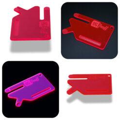Multi Tool OGS Card Neon UV Pink