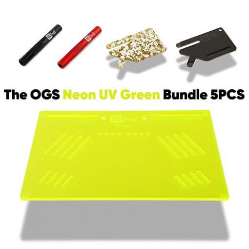 The OGS Platter Bundle 5PCS Neon UV Green