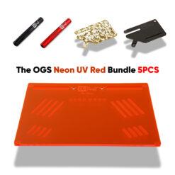 The OGS Platter Bundle 5 PCS Neon UV Red