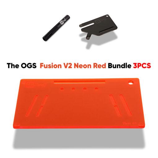 The OGS Fusion V2 Bundle 3PCS Neon UV Red