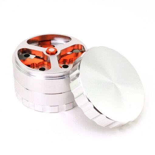 Rotor Blades Mixer 4-Part Silver Open