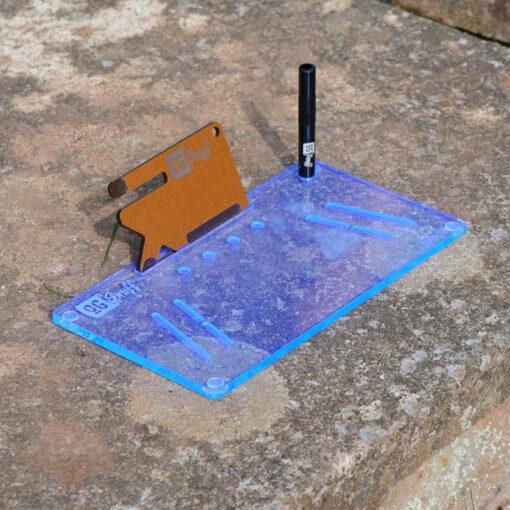 The OGS Fusion V2 Board Neon UV Blue