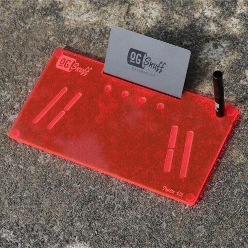 The OGS Fusion V2 Board Neon UV Red