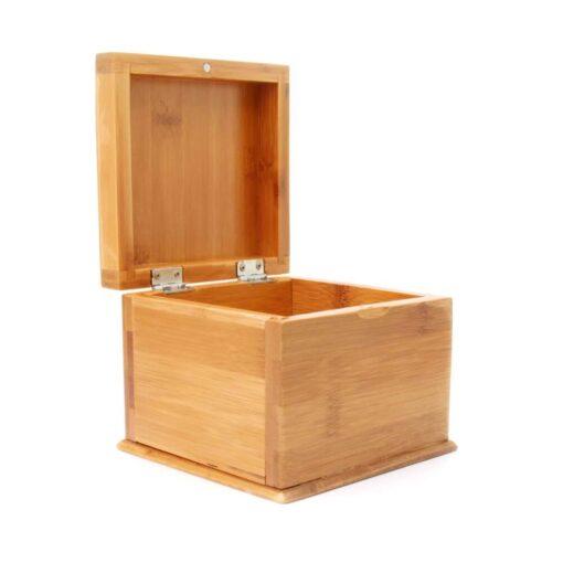 Secret Pocket Bamboo Box Open