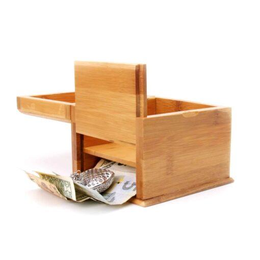 Secret Pocket Bamboo Box Open Reveal