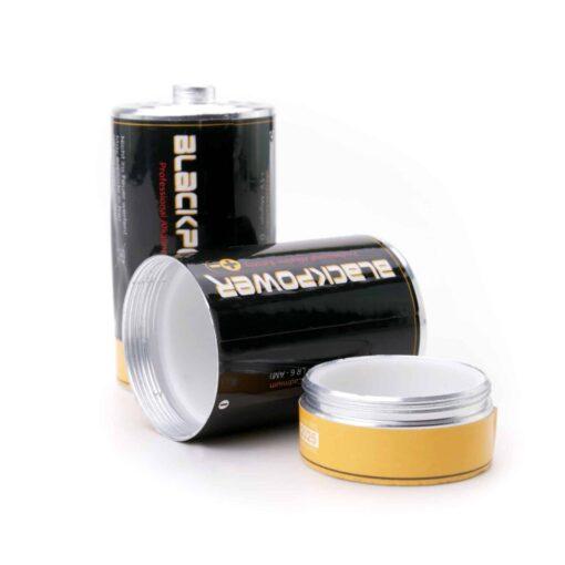 Secret Battery Type-D Stash Open