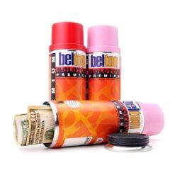 Secret Belton Spray Can Stash Open Reveal