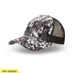 Cool Black Flower Cap