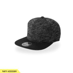 Elegant Snap Back Black Cap