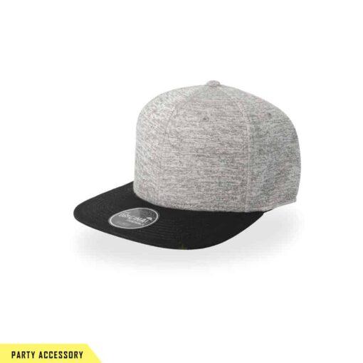 Elegant Snap Back Grey Cap