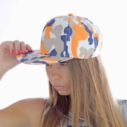 Orange Snap Back Cap Girl