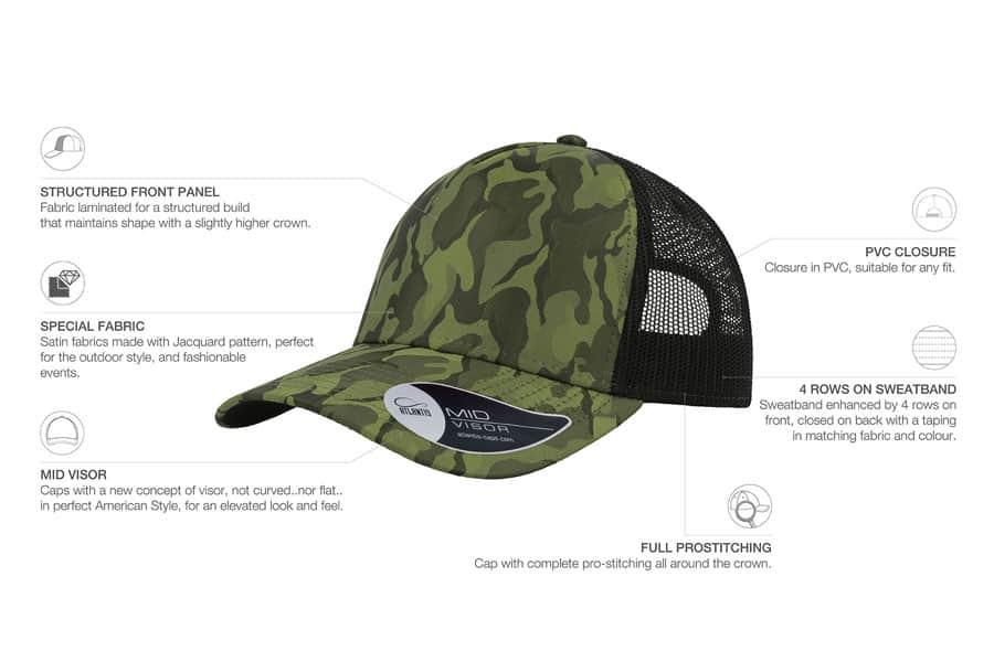 Premium Camouflage Red Cap
