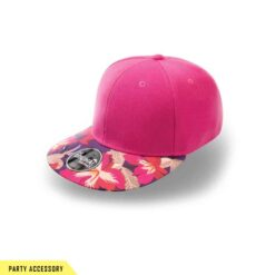 Wide Snap Back Pink Flower Cap