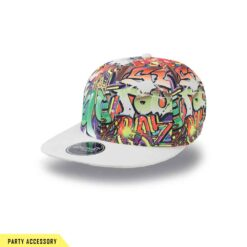 Wide Street Graffiti Snap Back Cap