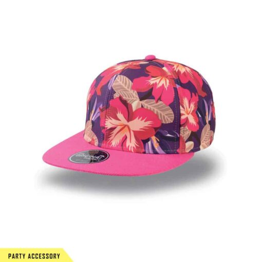 Wide Street Pink Flower Snap Back Cap
